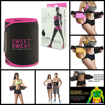 Sweet Sweat Premium Waist Trimmer Belt Waist Trainer Corset Slimming Belt Shaper