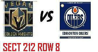 1-2 Tiks Edmonton Oilers Vs Vegas Golden Knights Apr 5 Rogers Place Aisle Seats