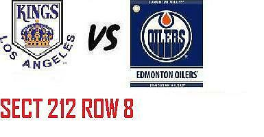 1-2 Tiks Edmonton Oilers Vs Los Angeles Kings Mar 24 Rogers Place  Aisle Seats