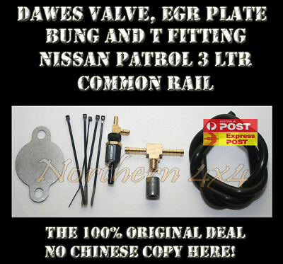 Dawes Valve and EGR Kit with fittings Nissan Patrol Y61 GU ZD30 CRD Motor