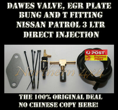 Dawes Valve and EGR Kit with fittings Nissan Patrol Y61 GU ZD30 Di Motor