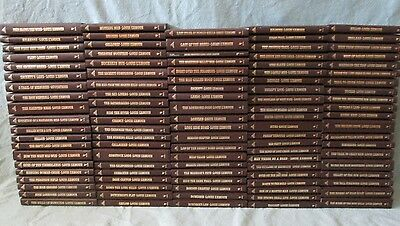 Lot of 103 LOUIS L'AMOUR Hardcover Leatherettes, No Doubles, BANTAM, Sacketts