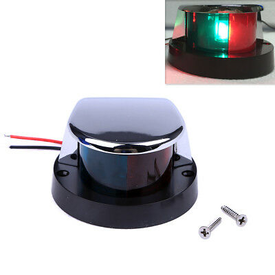 BI-COLOR RED & Green Boat 12V Navigation Light Side Marker