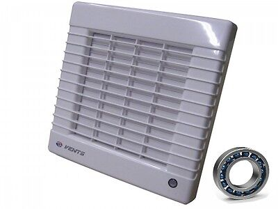 Bathroom Vent 125 Mal, 185 M³/H , Mit Blinds, Ball Bearings Pipe Fan