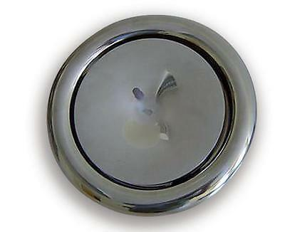 Exhaust Valve 200 mm Stainless Steel Polished Air Supply