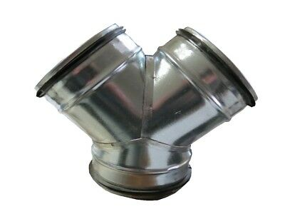 Y-PIECE with Three 160 mm with Lip Seal Spiral Ducts