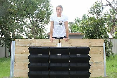 BOX OF 10 50CM VERTICAL GARDEN POTS FOR RETAINING WALLS and screens