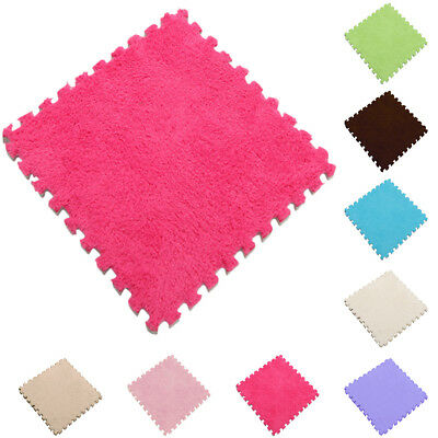 1pc Baby Crawl Velveteen Plush Carpet Floor Mat Tatami Shaggy Area Rug Bedroom