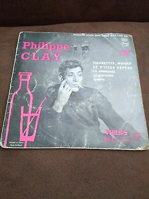 45 Tours 4 Titres / Philippe Clay Cigarettes Whisky