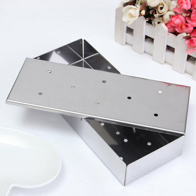 222x90x40 Stainless Steel Outdoor Barbecue Wood Chip BBQ Smoker Smoking Box Case