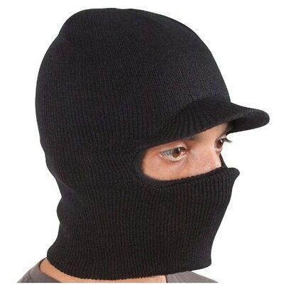 Winter Warm Knit Ski and Snowboard Windproof Face Mask Hat with Visor