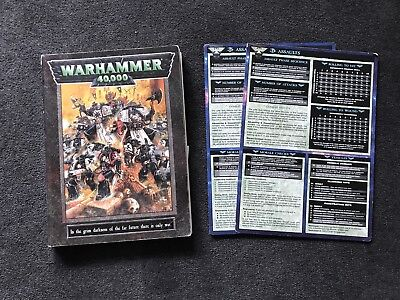 Games Workshop Warhammer 40k Rule book And Reference Cards , Precious Edition GW