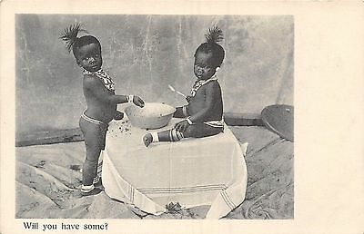 POSTCARD   ETHNIC   AFRICA  Will  You  have  Some  ?