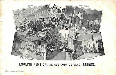 POSTCARD   BELGIUM   BRUGES  English  Pension  25  Rue  Cour  De  Gand