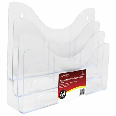 Bulk Buy - 3 x deflect-O 3-Tier Document Organiser Clear