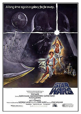 Star Wars (1977) V3 - A2 A3 A4 POSTER ***RETOUCHED AND RESTORED***