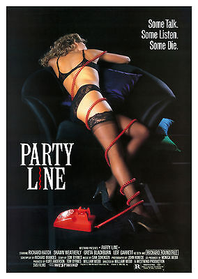 Party Line (1988) - A2 POSTER ***LATEST BUY 1 GET 1 FREE OFFER***