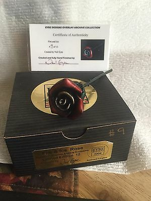 Fragile World Harmony Kingdom Artst Neil Eyre Designs Red silver rose #9 of 12