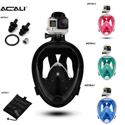 Swimming Diving Full Dry Face Mask Surface Snorkel Scuba For GoPro S /M / L / XL