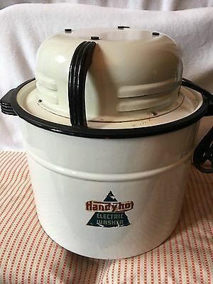 Vintage HandyHot Portable Electric Washing Wringer Machine Camping Works FreeShp