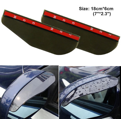 2 Pack Car Wing Side Mirror waterproof Eyebrow Rain Protection Cover Protector Cap AC53
