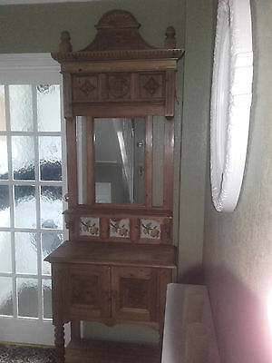 Reproduction Tall Wash Stand Very Solid Construction & In Great Condition