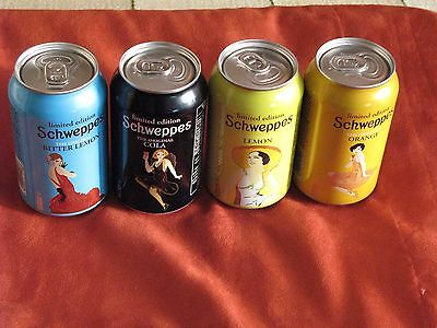 Limited Edition Set 4 x Polish Cans 0.33L  Schweppes - Empty Open bottom