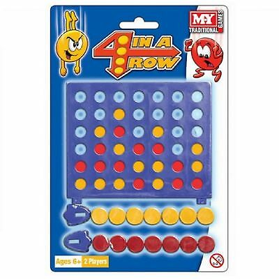 Mini travel Connect 4 In a Row Game My Traditional Board Miniature Challenge toy