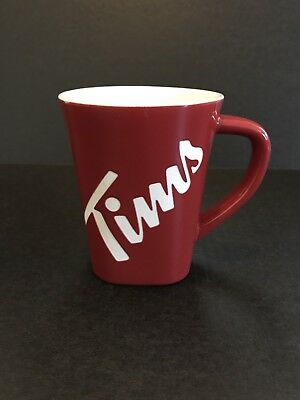 Tim Hortons LIMITED EDITION MUG Etched TIMS Red Coffee Cup 2013 #013 Square