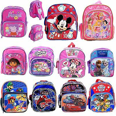 "Disney Kids 10"" Mini School Backpack BookBag Licensed  For Girls Boys USA Seller"