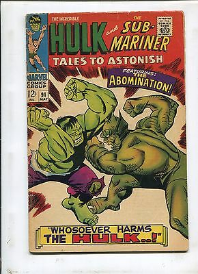 Tales To Astonish #91 (5.0) First Abomination Cover!