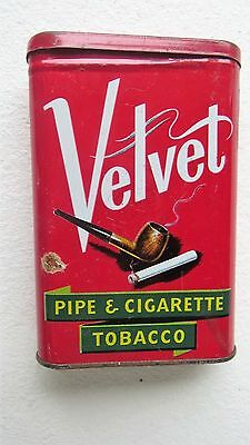 Velvet Pipe & Cigarette TOBACCO Dose Tabakdose Made in USA