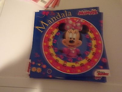 1 Colourbook (24 Pages) Mandala Disney Minnie Mouse 22X21 Cm New New