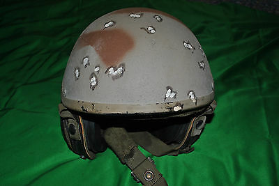 US CVC DH132 Combat Vehicle Tank Crewman Helmet speakers no boom mike