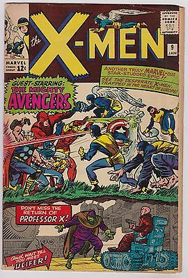 Vintage Silver Age Marvel Comics X-Men #9 comic book Avengers Jean Grey pin up