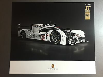2016 Porsche 919 Hybrid Le Mans Coupe Showroom Advertising Poster RARE!! Awesome