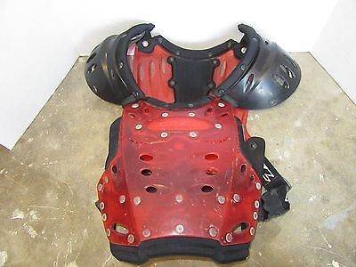 Oneal Racing Chest Protector Roost Guard Adult Medium Red Motocross Dirt Bike