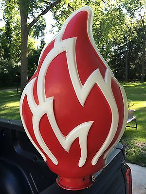 Original Standard Oil Flame Sign Topper Plastic Gas Station Light
