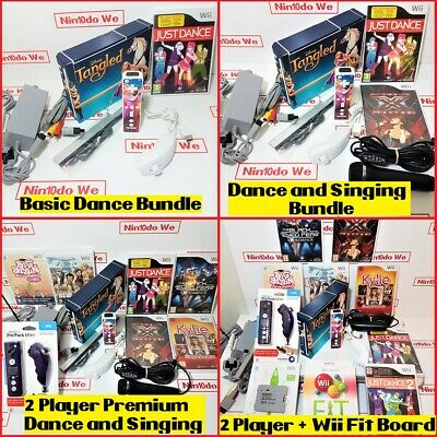 Nintendo Wii Console all Singing Dancing gift bundle for Girls + Year warranty