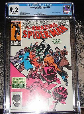 Amazing Spider-Man #253 (Marvel 6/84) CGC 9.2 WHITE Pages 1st App of the ROSE