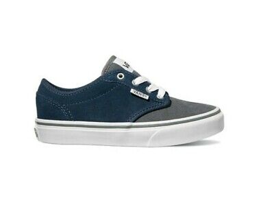 6fb4241bbd VANS YOUTH SKATE Shoes - Atwood - (Varsity) Navy Gray