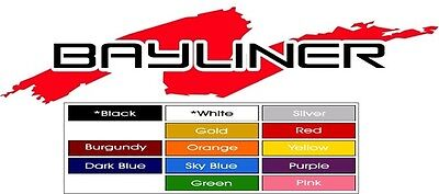 BayLiner Marine Vinyl decals (2)  Red and Black 48 X 7.5 Inch Not Printed !