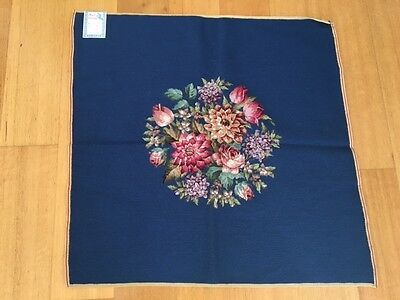 TAPESTRY UPHOLSTERY FABRIC HAND EMBROIDERY 68CM SQUARE 6 pcs available