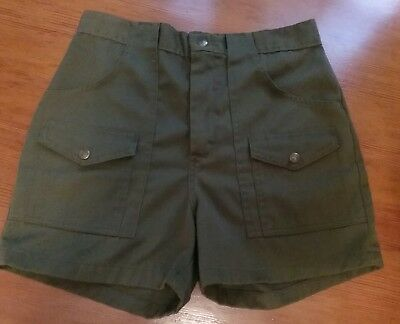 Boy Scouts Shorts, Green Cotton, 31, Small