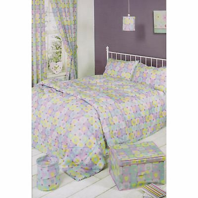Mucky Fingers Childrens Girls Heart Patterned Unlined Curtains With Tiebacks