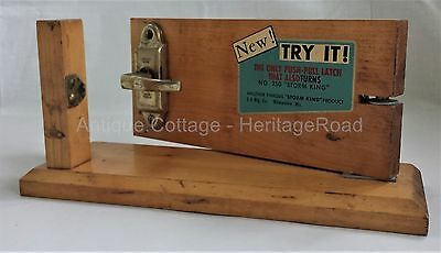 vintage Storm King DOOR LATCH Store DISPLAY no. 250 milwaukee wis