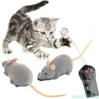 Remote Control RC Rat Mouse Wireless For Cat Dog Pet Toy Novelty Gift Funny J4VR