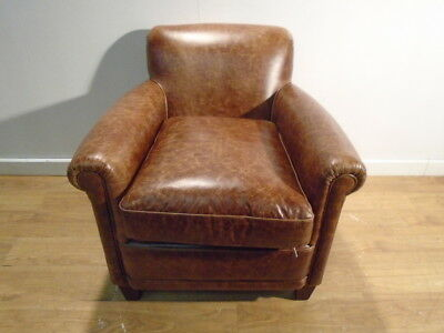 Vintage Leather Armchair With Brass Studs 163 35 00
