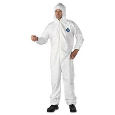DuPont 251-TY127S-XL Tyvek Elastic-cuff Hooded Coveralls, Hd (251ty127sxl)