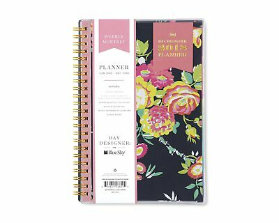 Blue Sky BLS103620 Day Designer Cyo Weekly/monthly Planner, 5 X 8, Navy/floral,